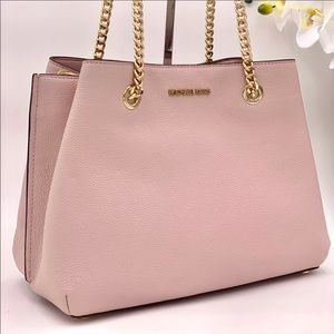 Michael Kors Teagen Tote Shoulder Bag Pink